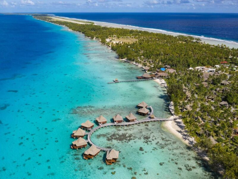 Hotel Kia Ora Resort & Spa Rangiroa, vue sur le plus grand lagon Polynésien